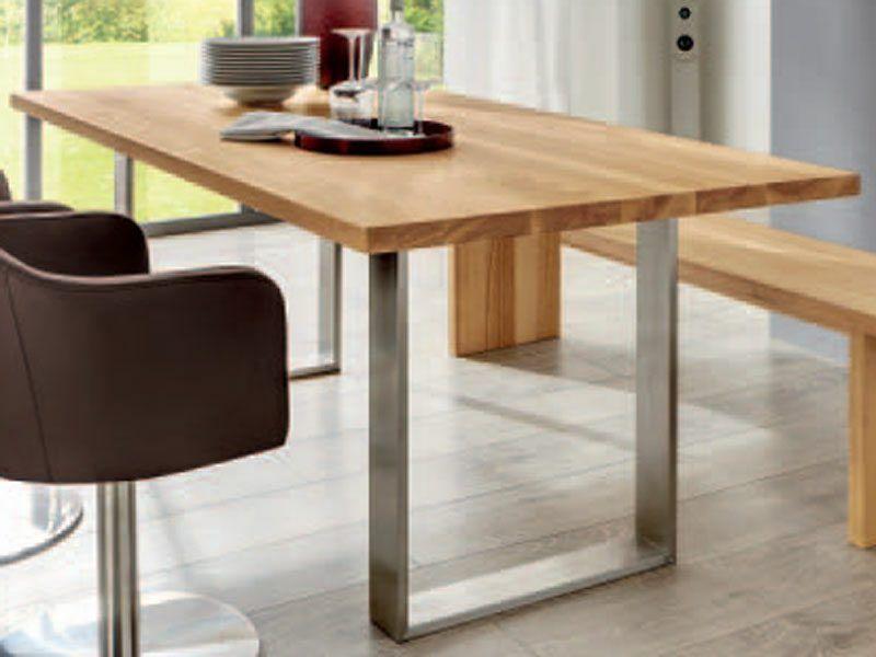 genial holztisch metallbeine deutsche deko pinterest holztisch tisch und deutsch. Black Bedroom Furniture Sets. Home Design Ideas