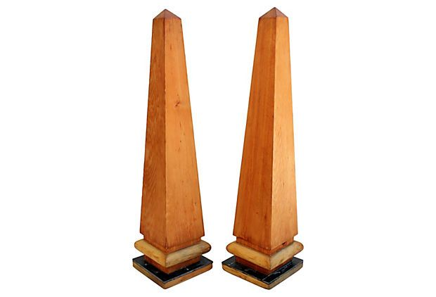 Monumental Wood Obelisks, Pair on OneKingsLane.com
