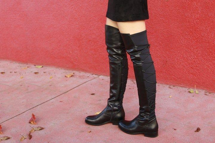 Mandy schwarze Schnürstiefel