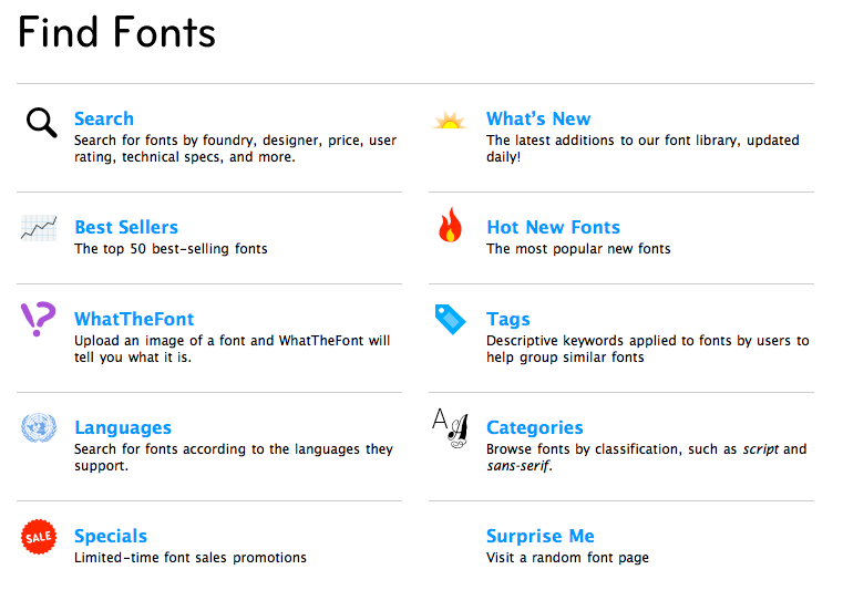 Great Icon List Web Design From Myfonts Com Lists Web Design Myfonts Find Fonts