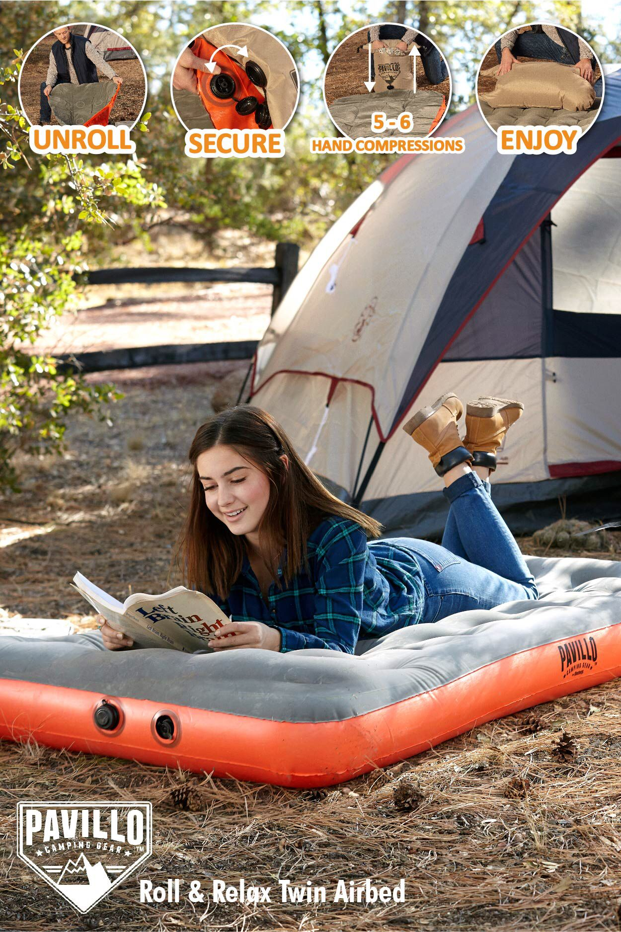 Bestway Roll and Relax TwinSize Air Mattress Inflatable
