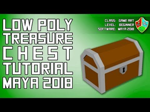 Model & Texture a Low Poly Chest in Maya 2018 | Maya 2018