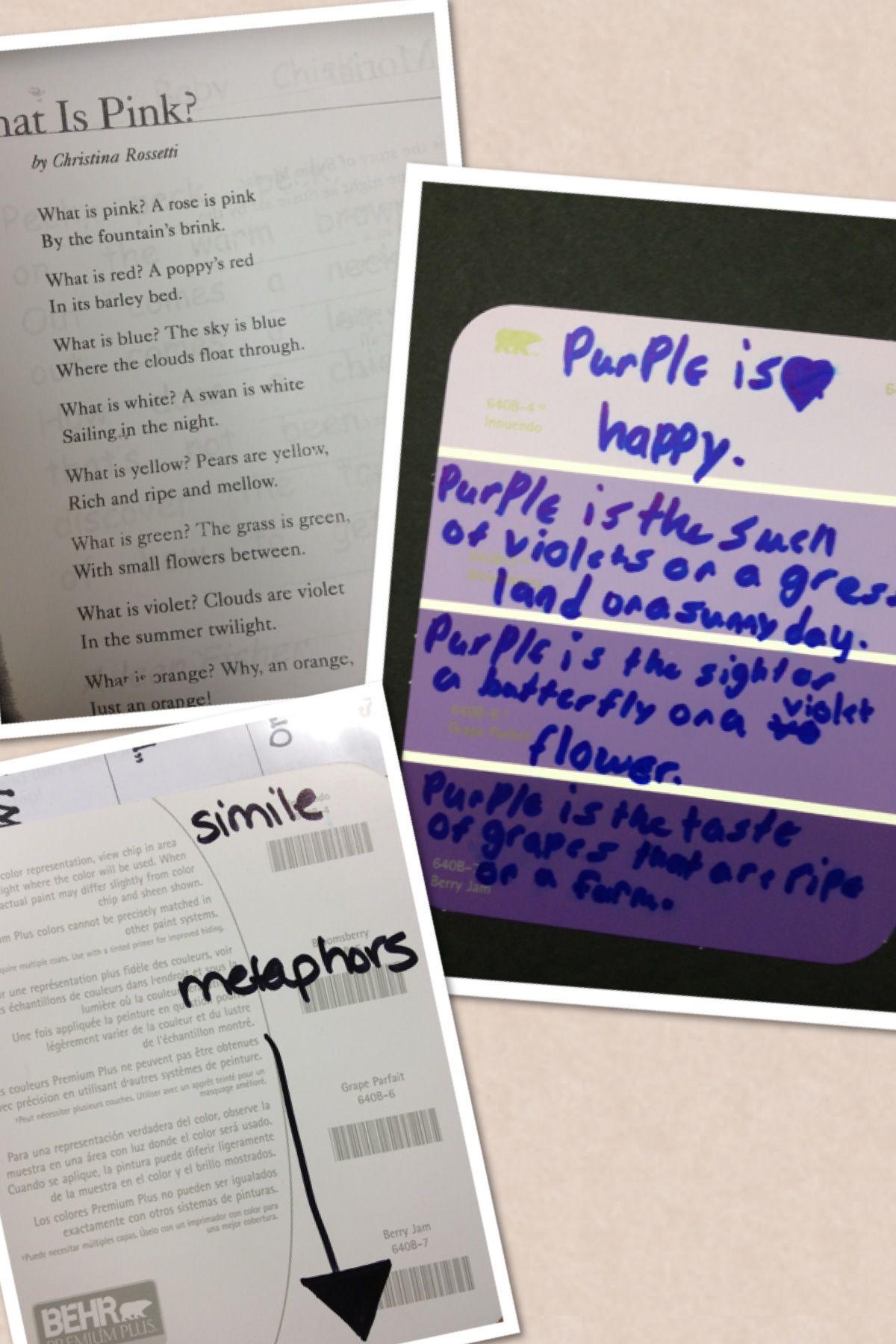 Writing Sensory Poems 3rd Grade Poetry Fun