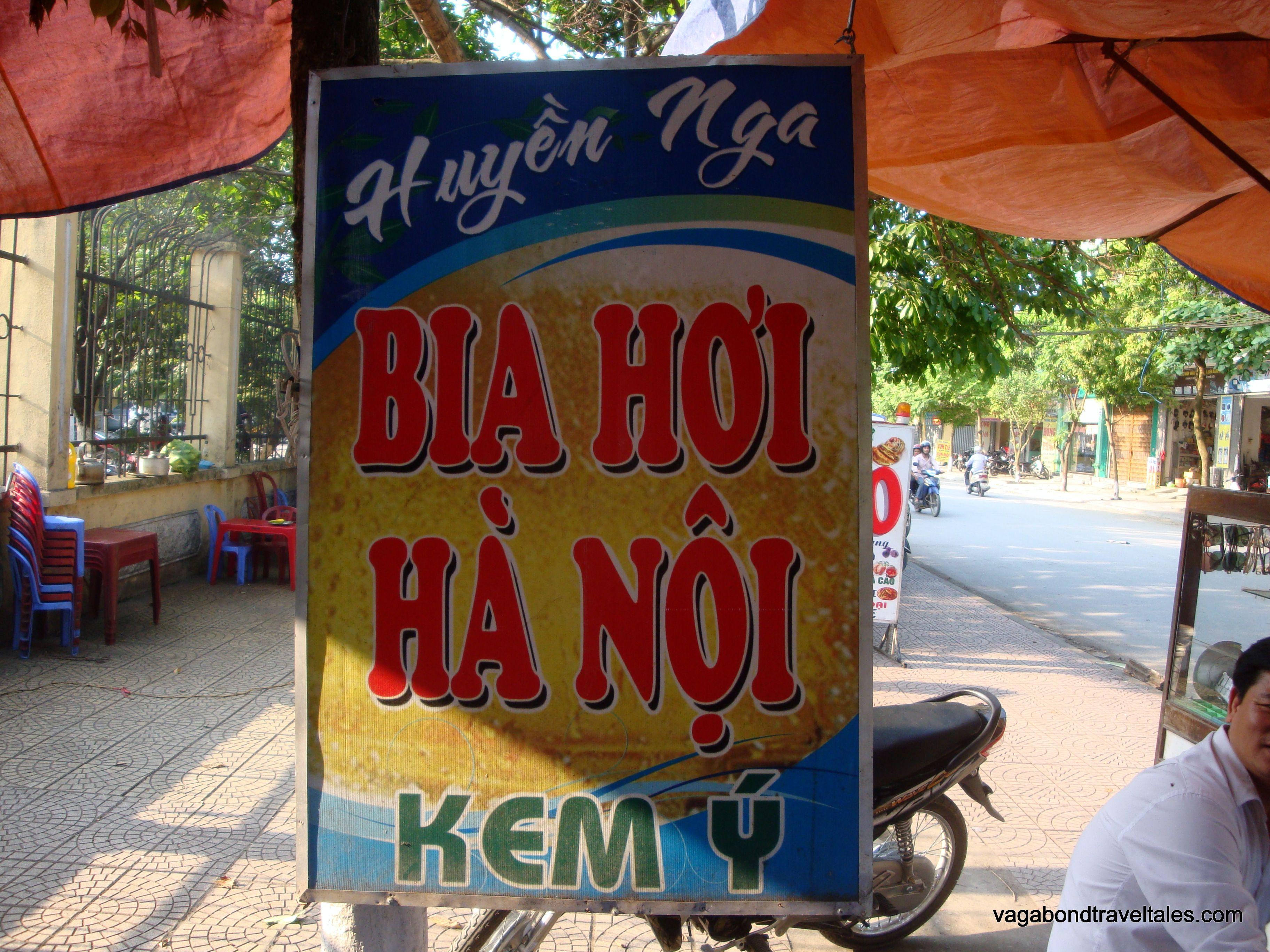 Bia Hoi Ninh Binh Vietnam Drinking Beer Beer Bia