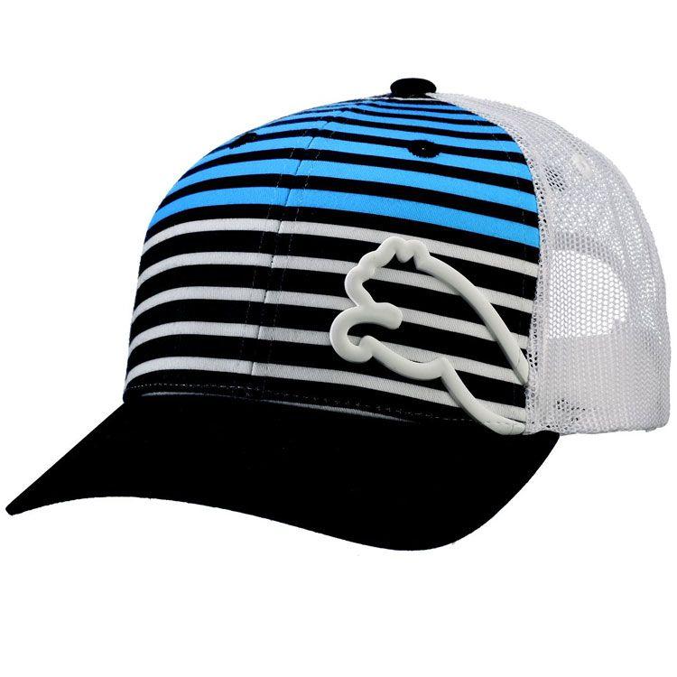 38a2fd2a858 Puma Monoline Snap Back Trucker Golf Hat Chest Stripe Black