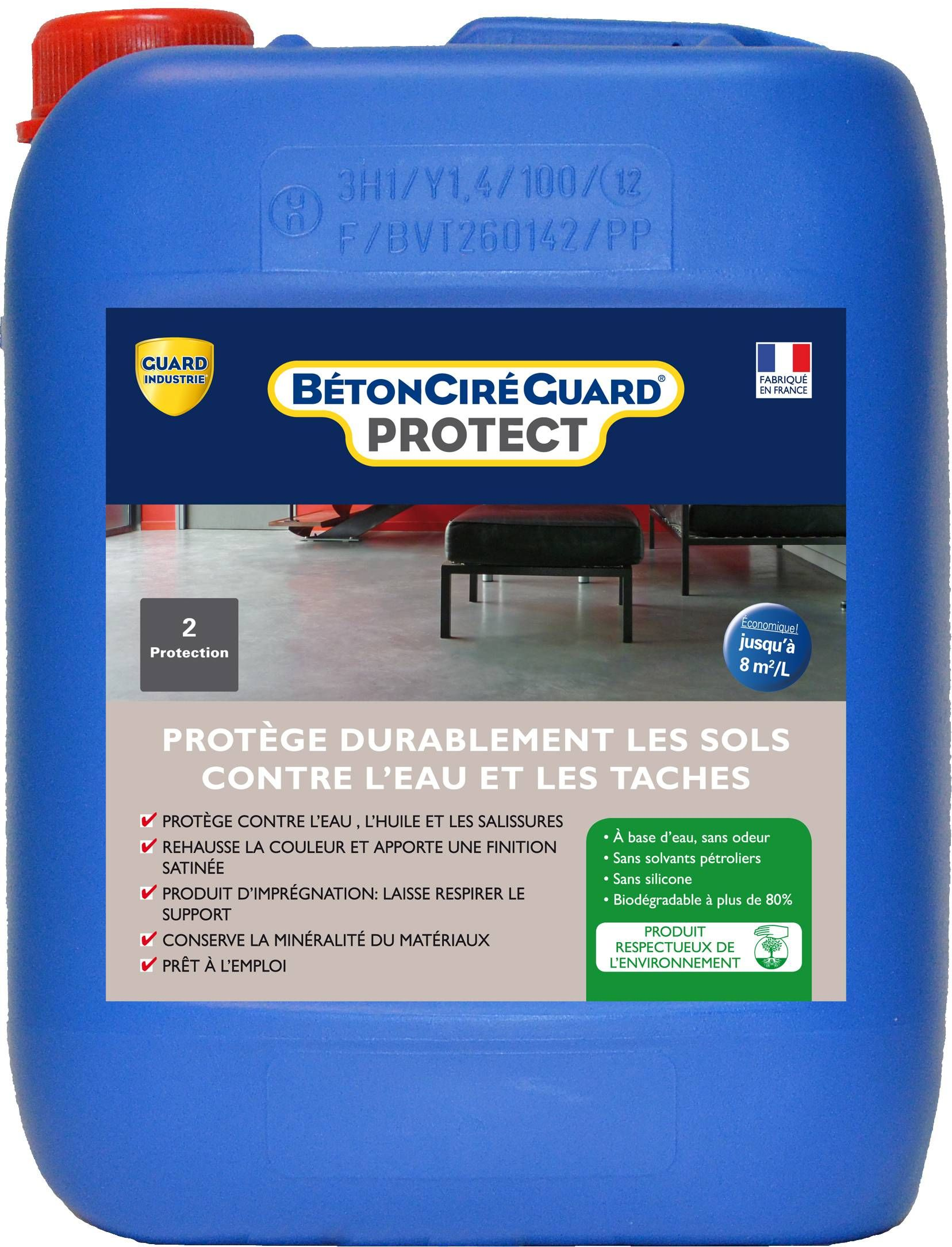 Beton Cire Guard Protect Protection Hydrofuge Oleofuge Guard Industrie Beton Cire Beton Sol Beton