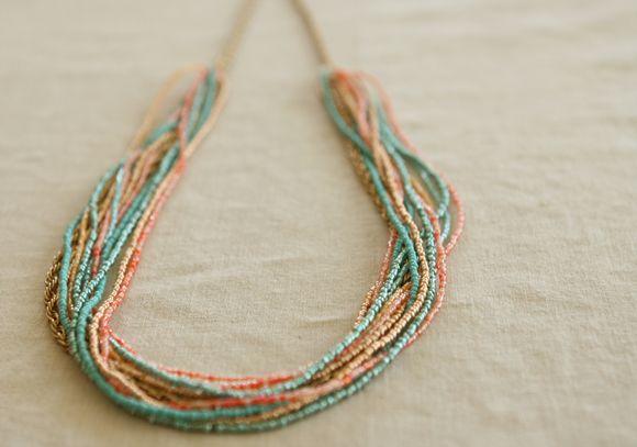 Four Flights of Fancy: DIY Seed Bead Necklace Tutorial