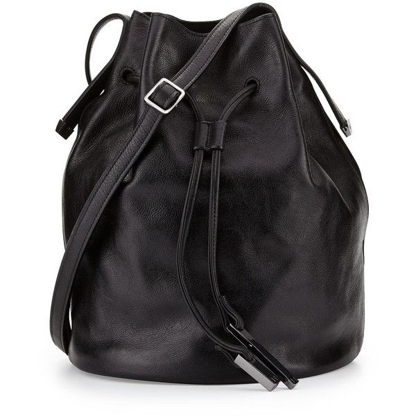 ab3b35231e Halston Heritage City Casual Leather Bucket Bag ( 395) ❤ liked on Polyvore  featuring bags
