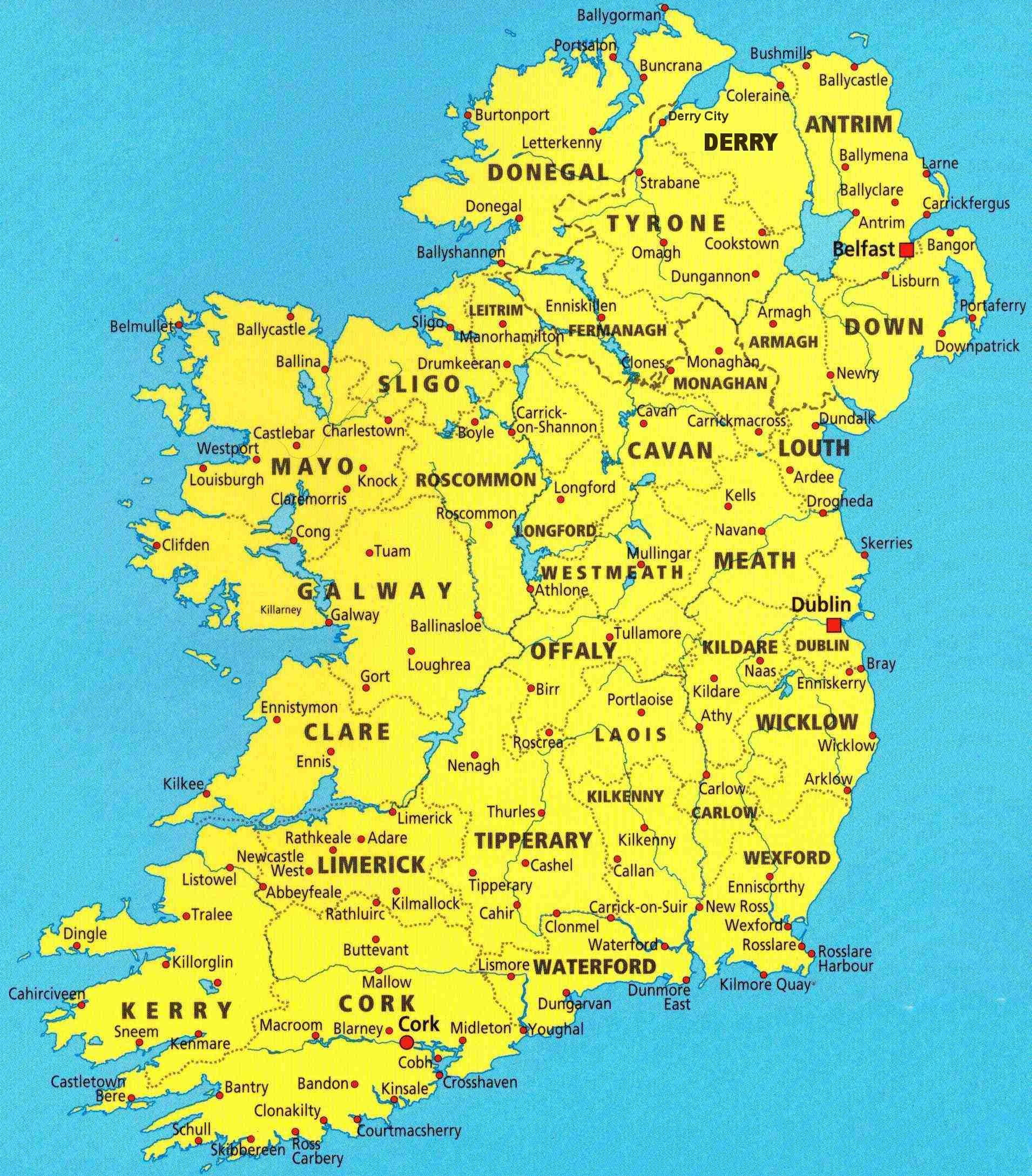 ireland map map of ireland width 1911 height 2178 filesize