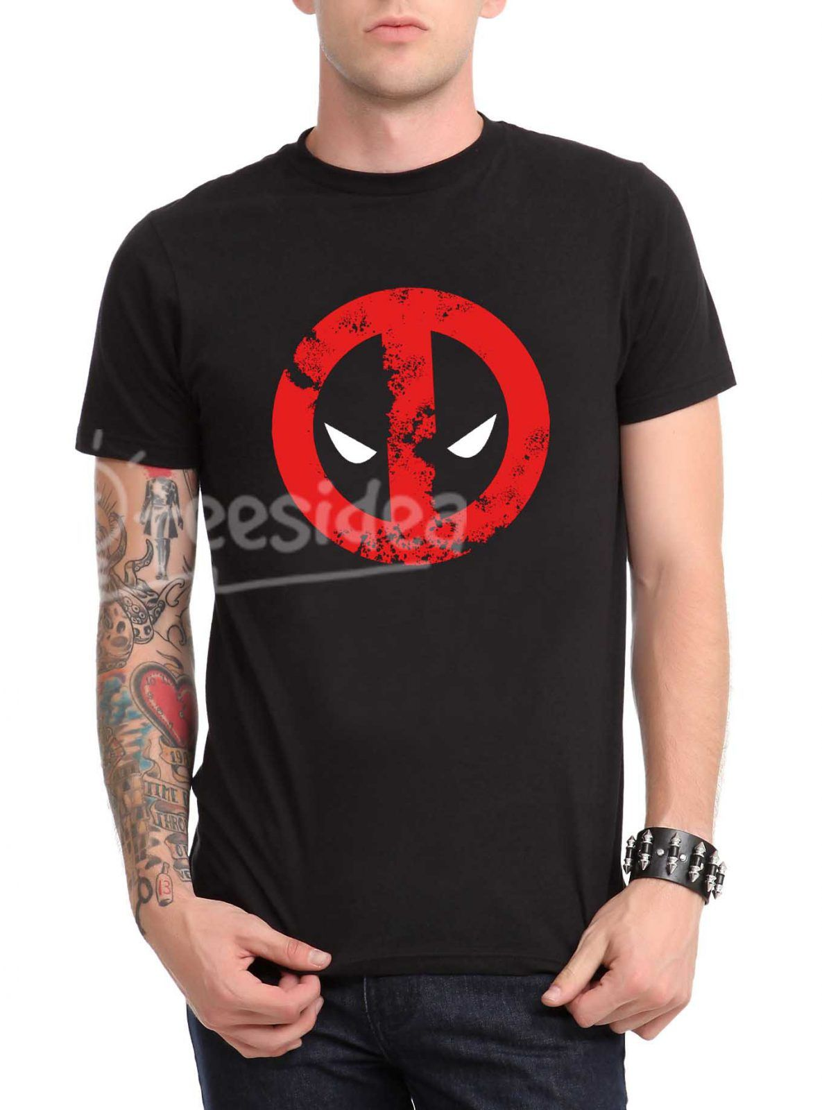 Deadpool face Unisex Adult T Shirt - Get 10% Off!!! - Use Coupon Code 'TEES10'