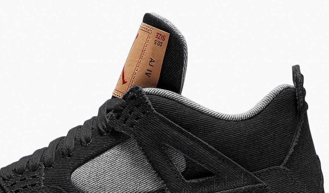grossiste 220f7 908c3 Black Levi's x Air Jordan 4 Collaboration Rumored for June ...