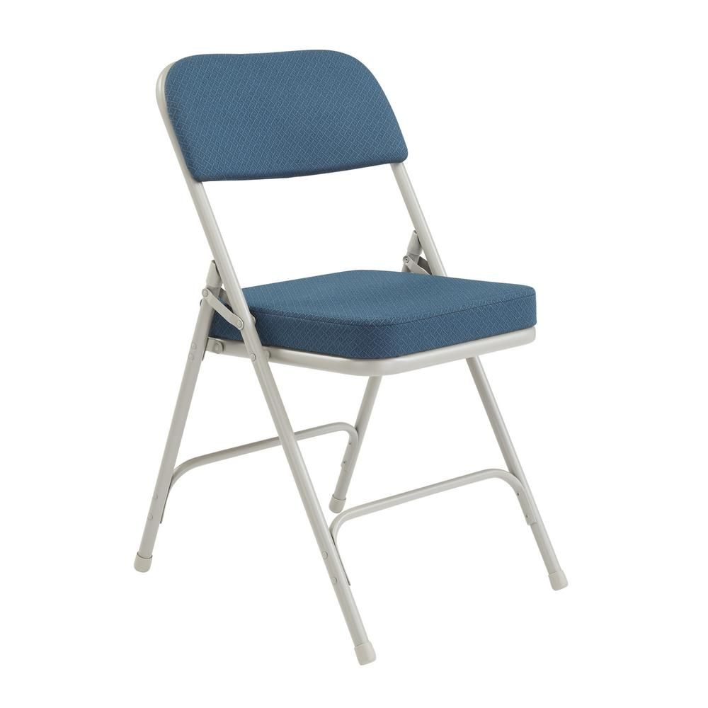 National Public Seating Navy Metal Frame Padded Seat Folding Chair