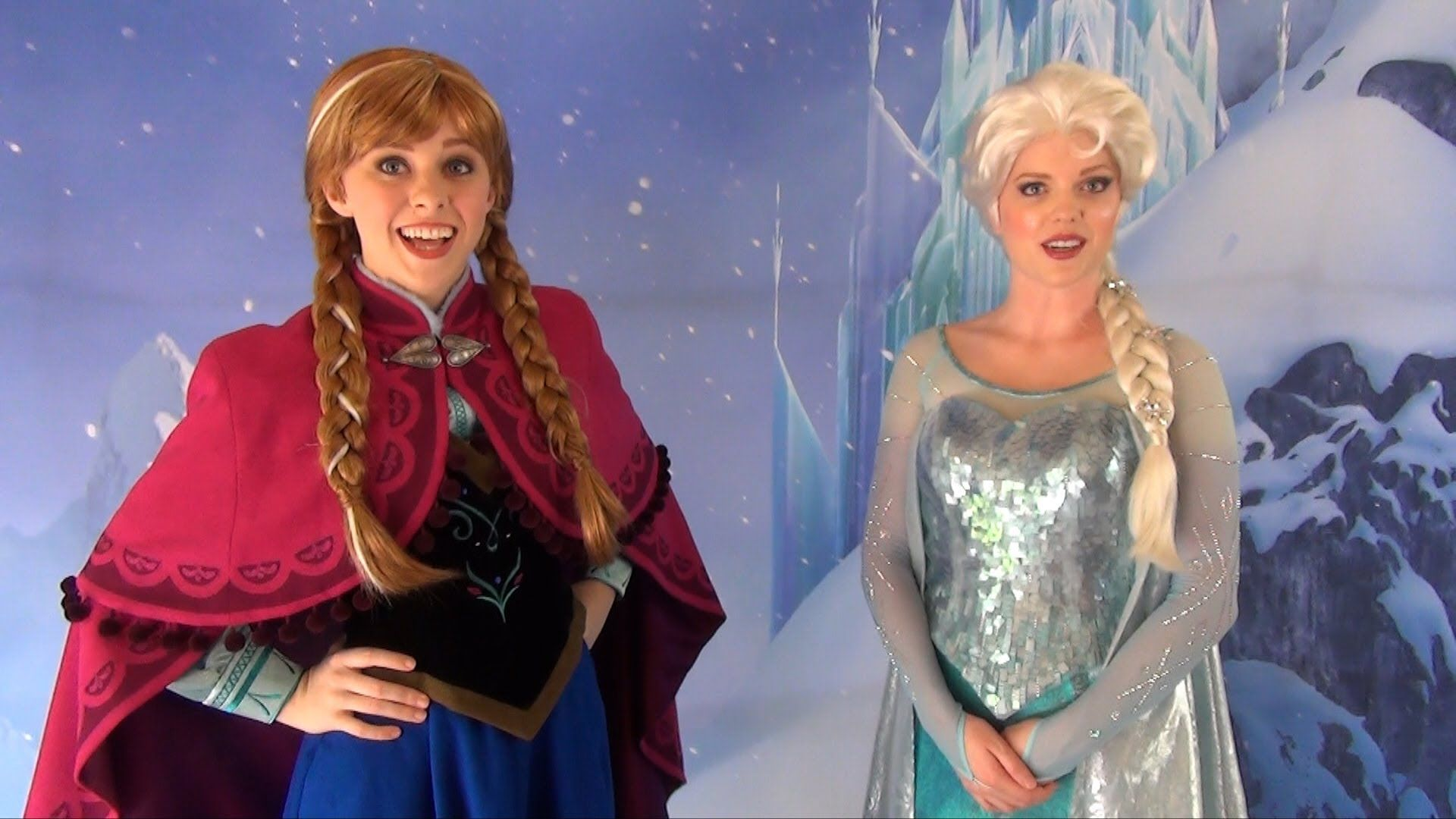 We Met Anna And Elsa From Frozen Today At Disneys Hollywood