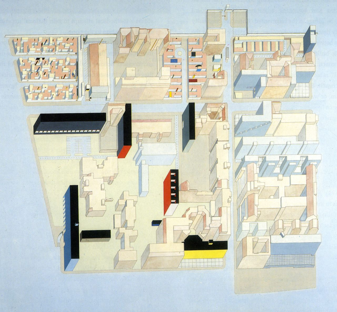 Rem Koolhaas/OMA, Berlin International Architectural Exhibition, Competition Entry, 1980