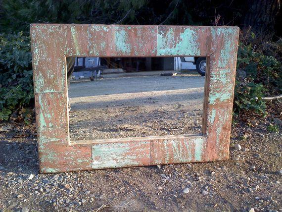 patina copper mirror