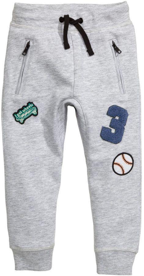 af1c031be5 H M - Sweatpants - Light gray melange - Kids