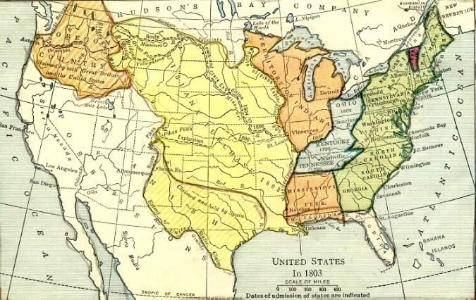 U S Territories Louisiana Purchase