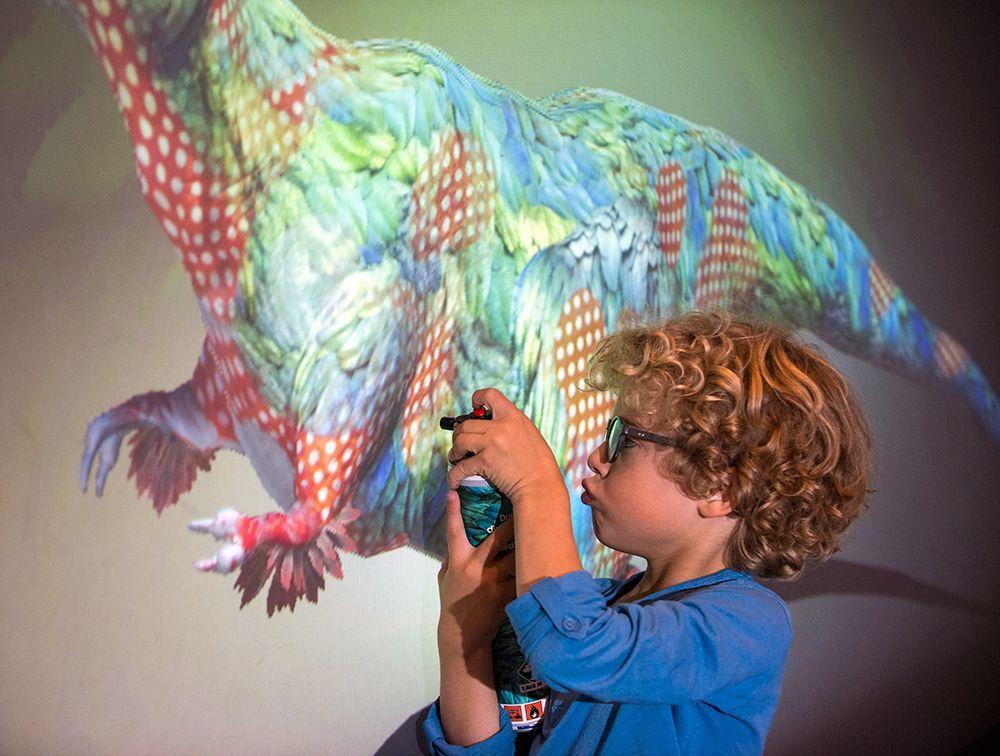 welche farbe hatte der t rex tyrannosaurus  dinosaurier