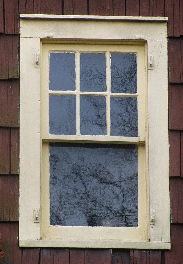 No Storm Window Six Over One