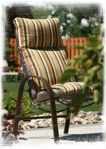 Homecrest S Palisade Cushion High Back Dining Chair While Our Palisade Collection H Patio Furniture Collection Modern Patio Furniture Casual Outdoor Furniture