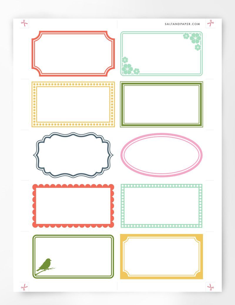 Assorted labels printable by salt and paper proyects pinterest assorted labels printable by salt and paper free label templatescard templatesfree printable business flashek Images