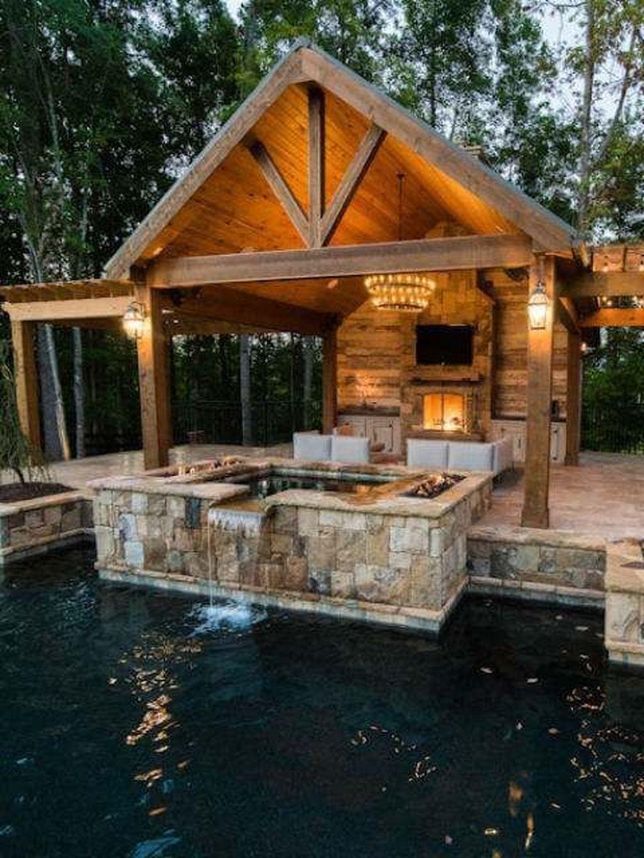 31 Cute Cabana Swimming Pool Design Ideas That Looks ... on Small Pool Cabana Ideas id=27456