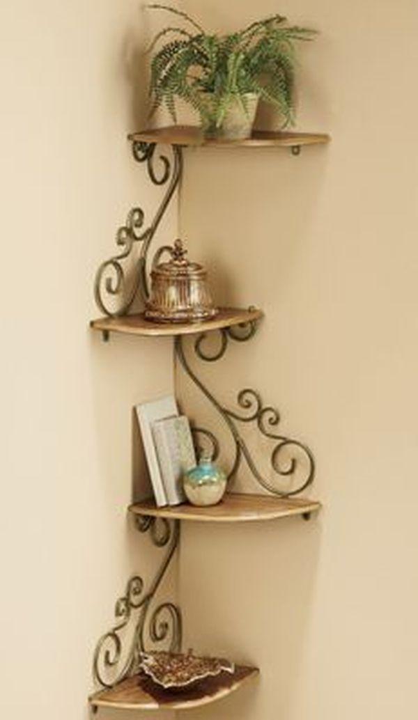 Spatiul Generos De La Imbinarea Peretilor Idei De Amenajari Interioare Corner Shelf Design Iron Decor Decor