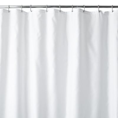 Wamsutta 70 Inch X 72 Fabric Shower Curtain Liner With Suction Cups In White