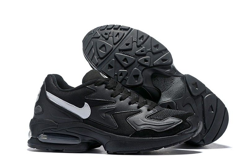 check out 4f9b9 ac321 Nike Air Max2 Light 104042-001 Men s Light Black-White Running Shoes  Trainers In Stock