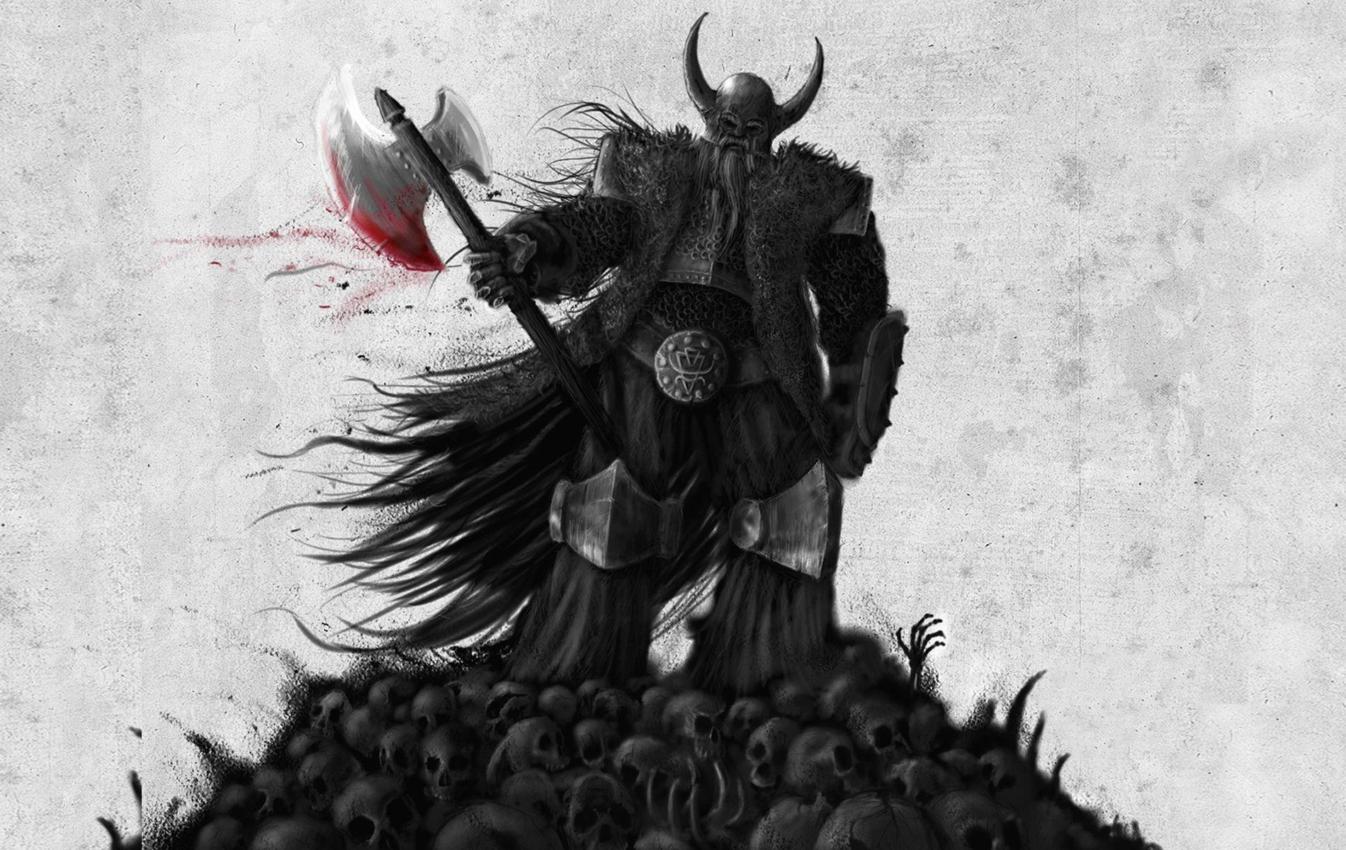 viking warrior art wallpaper for desktop viking warrior