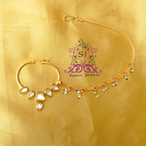 Kundan Meena Nose Ring Nose Jewelry Royal Jewelry Nath Nose Ring