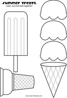 Food Crafts Print Your Ice Cream Cone Template At Allkidsnetwork Ice Cream Crafts Preschool Crafts Pattern