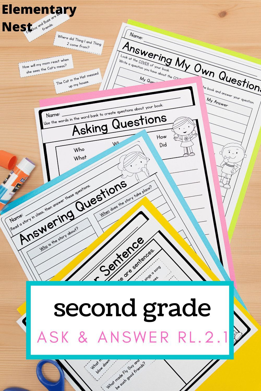 Asking And Answering Questions 2nd Grade Rl 2 1 With Digital Links Rl2 1 Homeschool Lesson Plans Teaching Common Core Teaching Reading