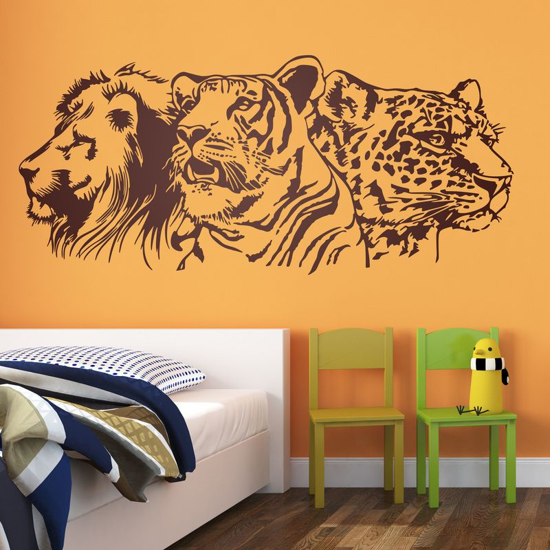Le n tigre y leopardo vinilos decorativos felinos for Stickers decorativos