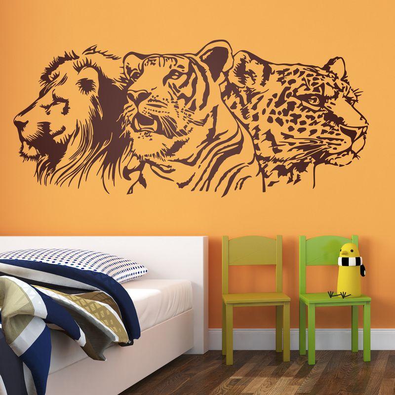 Le n tigre y leopardo vinilos decorativos felinos for Decoracion hogar leopardo