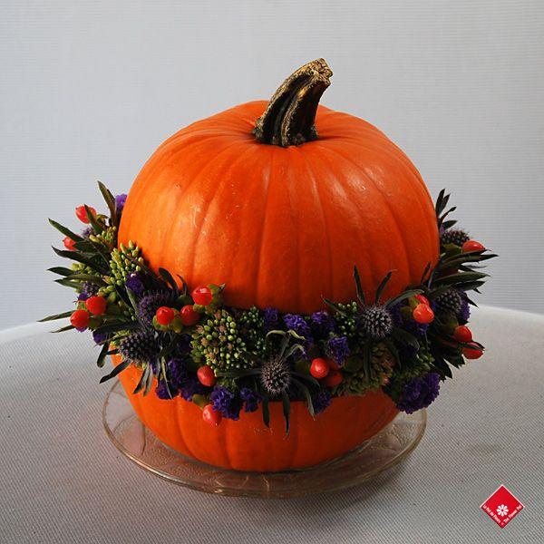 Citrouille fleurie - Le Pot de Fleurs.- Montréal   halloween   Pinterest