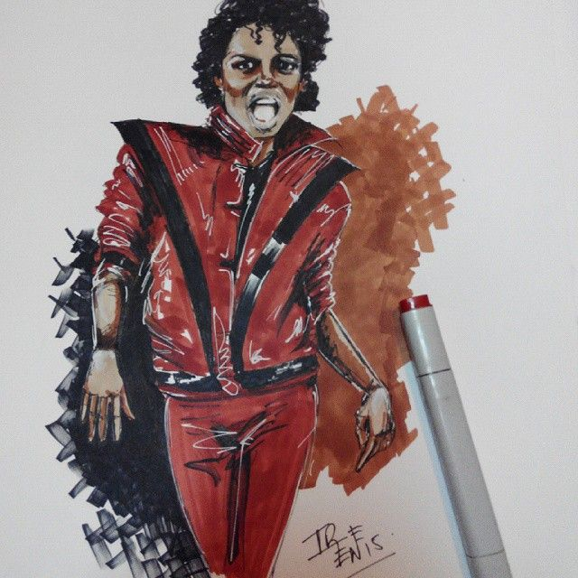 #2dart #kingofpop #thriller #markers #rotuladores #ilustracion #illustration #drawing #mj #michaeljackson #80s #heARTeam #art #artwork #dibujo
