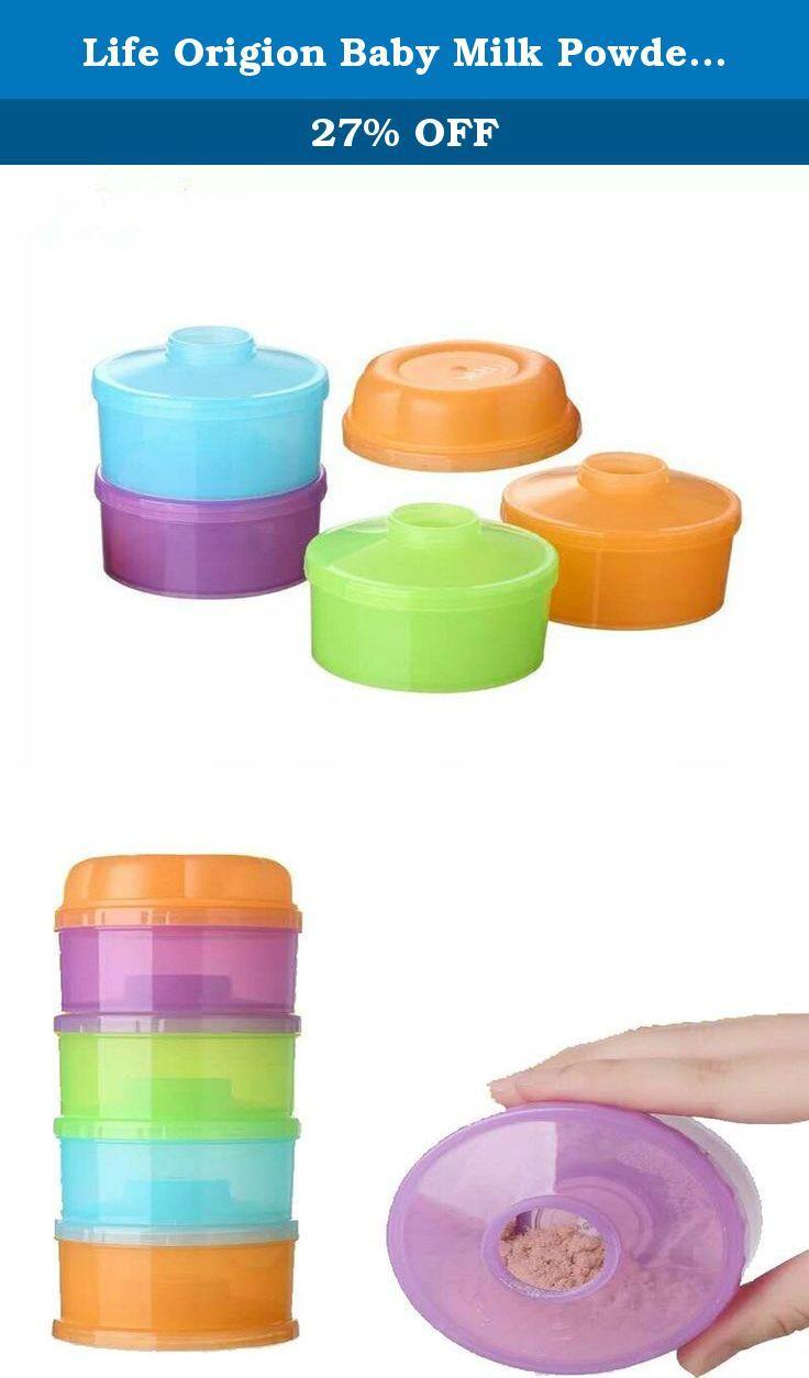 7d6b505c5df4 Life Origion Baby Milk Powder Formula Dispenser Stackable Food Pots ...
