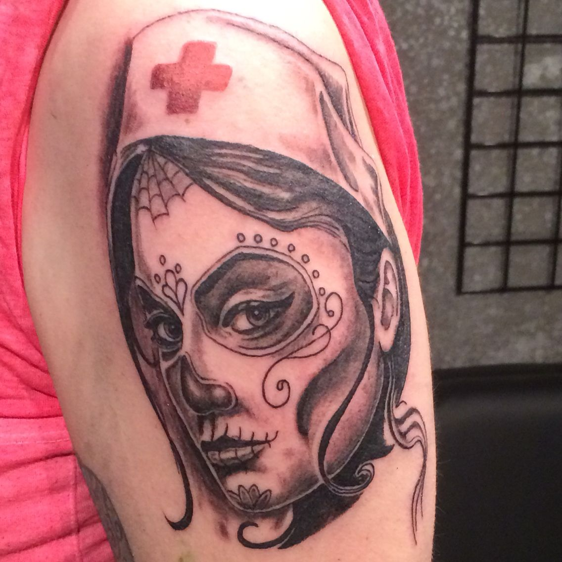 Tattoos tattoo ideas on pinterest rn - Day Of The Dead Nurse Tattoo