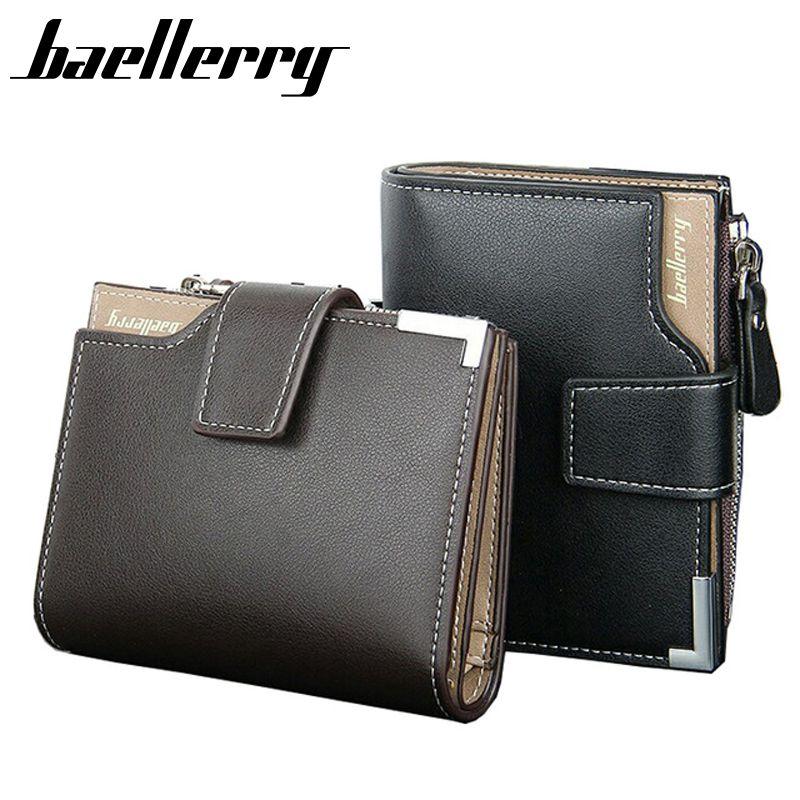 Fashion Men Card holder Handbag Purse Bifold Wallet PU Leather