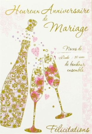 E17 04 20 Carte Anniversaire De Mariage Bouteille De