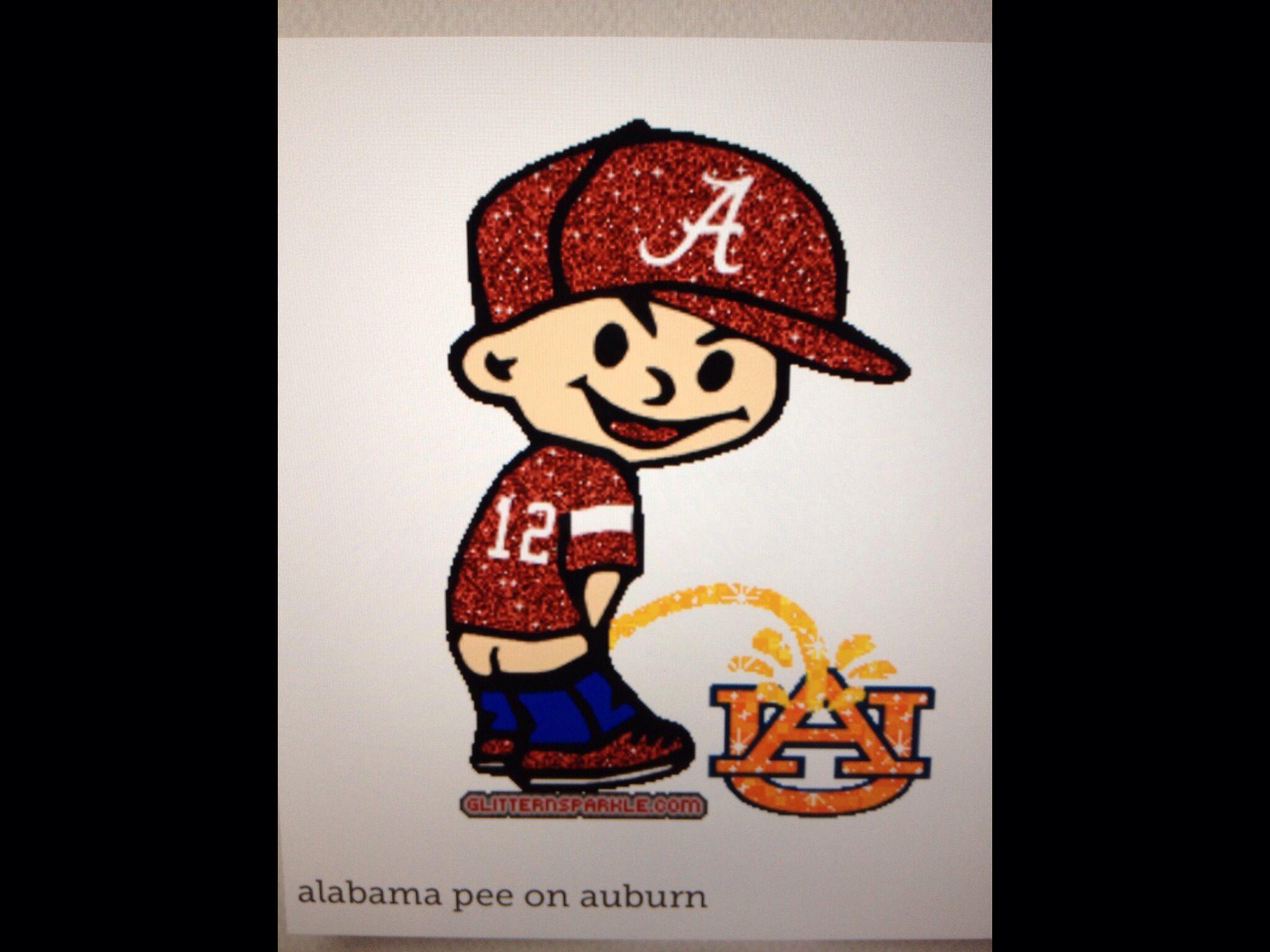 Pee On Auburn Character Vault Boy Alabama Football