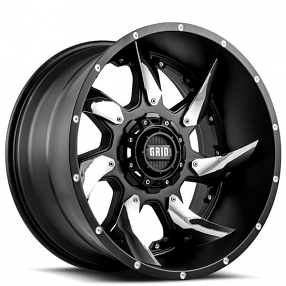 20 Grid Wheels Gd1 Matte Black With Chrome Insert Off Road Rims Truck Rims Wheel Rims