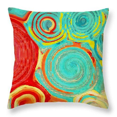 Decorative Pillow Running In Circles Colorful Swirls Design Home Decor Scatter Cushion Dorm D Throw Pillows Colorful Throw Pillows Decorative Throw Pillows