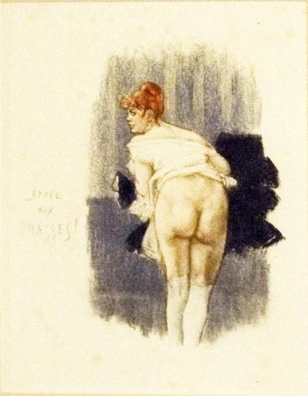 Felicien Rops, 'Appeal To The Masses', 1878. (The cynical title of this piece hints at Rops' contempt for the constraints of established sexual 'normality').