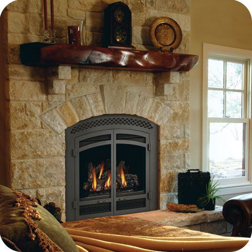 Napoleon H335wi High Country Arched Fireplace Double Doors
