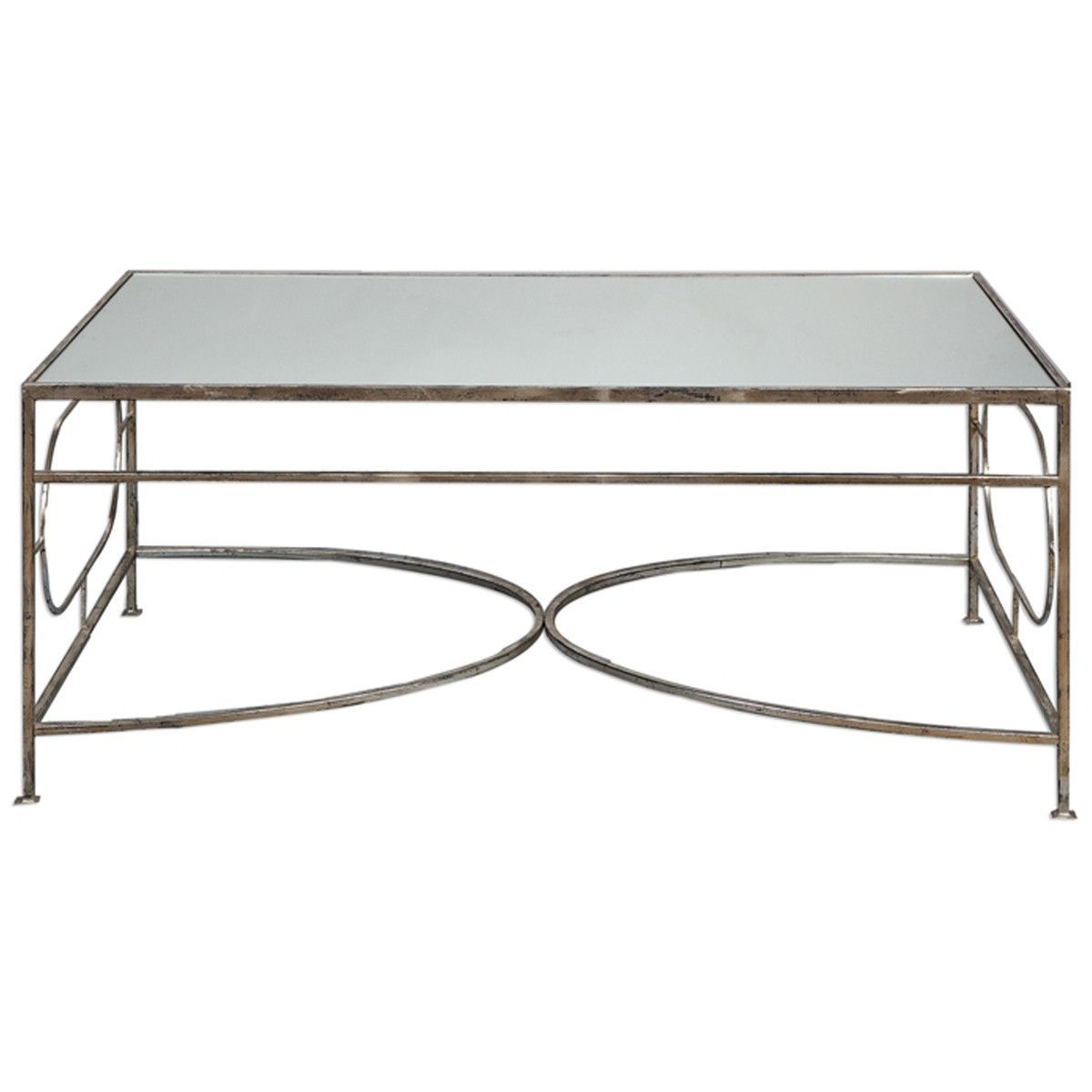 Uttermost luano distressed antique silver coffee table silver uttermost luano distressed antique silver coffee table geotapseo Image collections