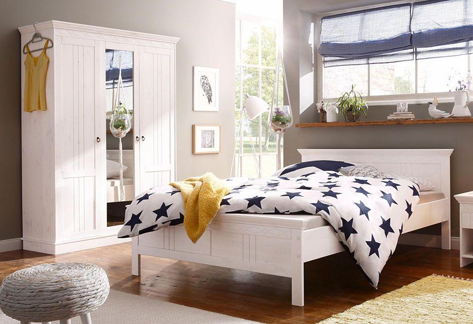 Home affaire Schlafzimmer-Set(2-tlg) »Indra«, Bett und Schrank - schlafzimmer komplett günstig