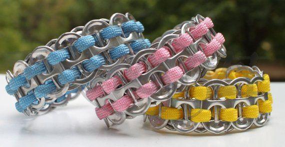 Wholesale 100 Pop Tab 1 Color 550 Paracord Survival Strap Bracelet