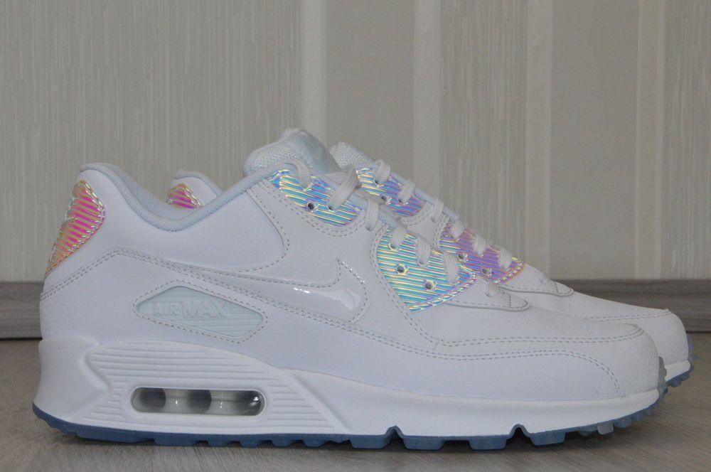 Nike Air Max 90 Premium Gr.41 Damenschuhe Sneaker Weiß